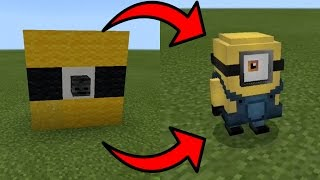 How To Spawn Minions in Minecraft Pocket Edition (Minions Addon)