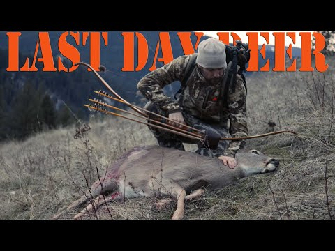 Recurve Bow Hunting - I Got My Deer On The LAST DAY!