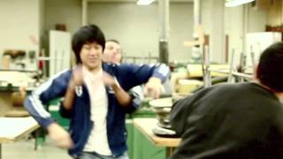 Los Amigos High School Fight: In The Woodshop Room With 2 Against 1! (kung Fu)