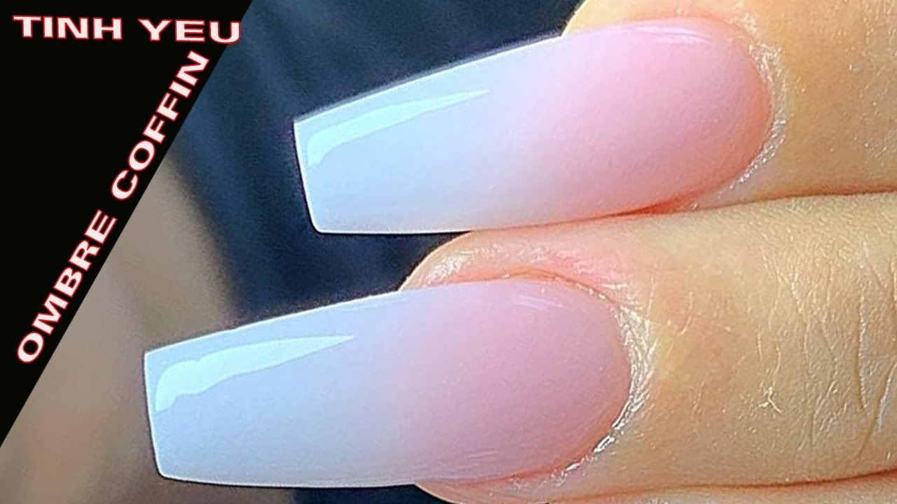 NEW NAIL ART 2019 / NAIL TECHNICIAN TINH YEU / OMBRE NAIL COFFIN SHAPE /578