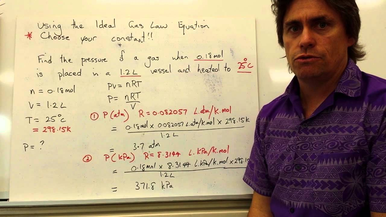 Ideal Gas Law Example Problem Question - YouTube
