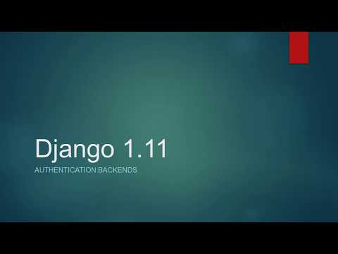 Authentication backends Django 1.11