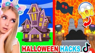 Building A HALLOWEEN HOUSE ONLY Using *TIKTOK* HACKS In Adopt Me! (Roblox)