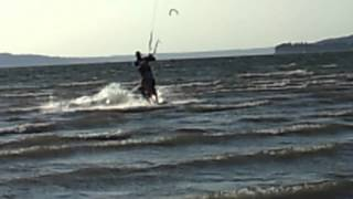 Was Your Dad This cool? Jetty Island Kite Surfing vid #4