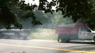 F-550 Dump Truck vs Dodge Ram 2500 D10 Tug of War