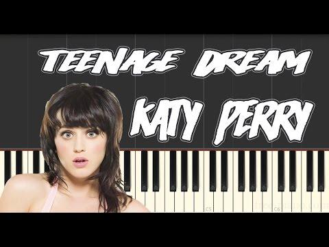 Katy Perry Teenage Dream Piano Tutorial Youtube