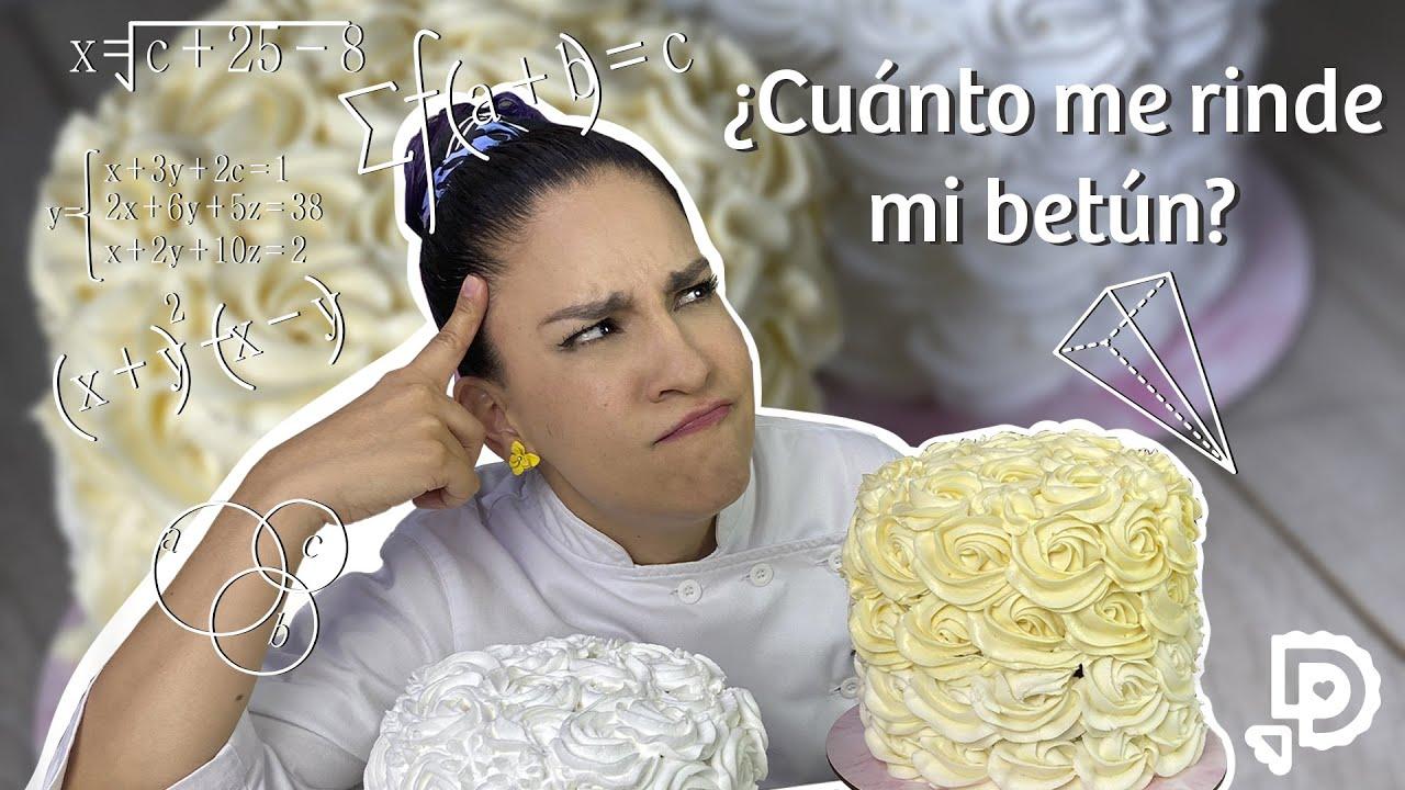 ¿Cuánto betún cubre mi pastel?