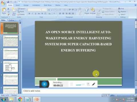 IEEE 2016   2017 EMBEDDED AN OPEN SOURCE INTELLIGENTAUTO WAKEUP SOLAR ENERGY HARVESTING SYSTEM FOR S