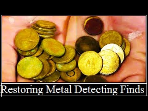 HOW TO CLEAN METAL DETECTING FINDS.(and bring Jewelry back to life)