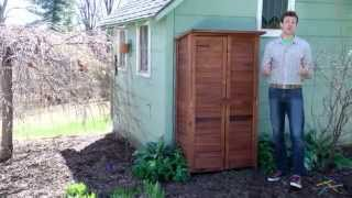 5' X 3' Wood Garden Storage Shed - Product Review Video