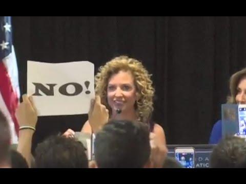Debbie Wasserman Schultz Booed Off DNC Stage