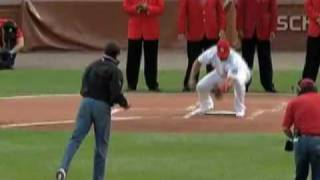 Our President and His Jeans - Obama Throws First Pitch