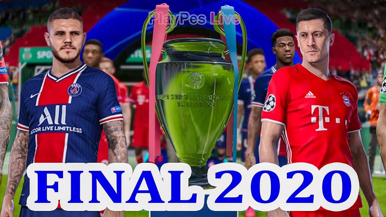 Psg Vs Bayern Munich Uefa Champions League Final Efootball Pes 2020 Gameplay Pc Youtube