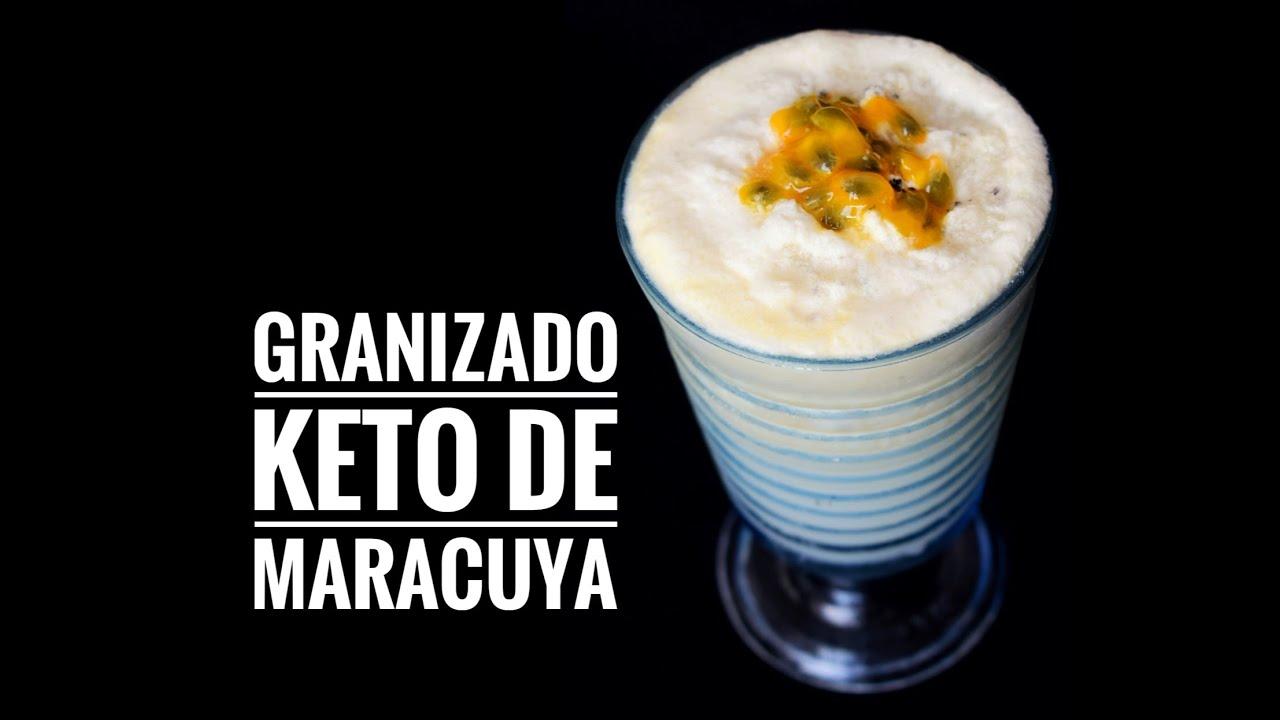 GRANIZADO DE MARACUYA KETO SIN LACTEOS