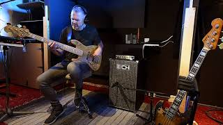 Eich Amplification 212S Cabinet + T-500 Bass Amp demo with Frans Vollink