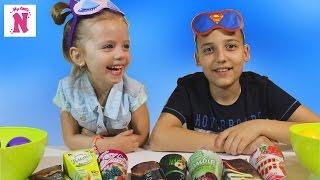 ЧЕЛЛЕНДЖ МОРОЖЕНОЕ против ОБЫЧНОЙ ЕДЫ угадываем вкусы Видео для детей Ice Cream Challenge