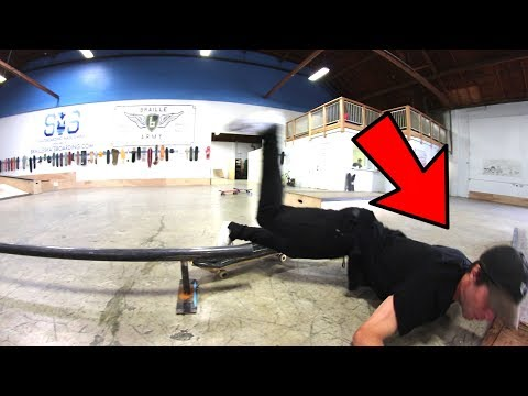 SKATER NEARLY SMASHES HIS FACE ON YOU MAKE IT WE SKATE IT!
