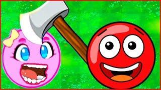 НОВАЯ ИГРА про красный шарик и розовый мяч Смотреть ИГРУ как МУЛЬТИК - Red Ball