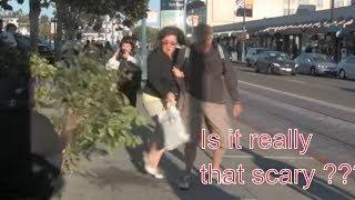 Homeless man bush scare prank | Bush prank compilation
