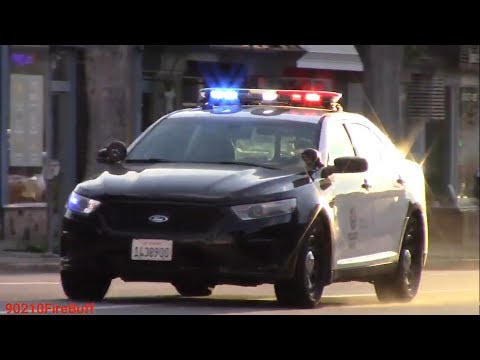 Multiple LAPD West LA Units Responding Code 3 to a Man with a Gun