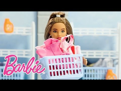 Laundry How-To with Barbie and Ken Dolls | Barbie