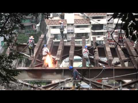Steel workers, Hong Kong construction sparks