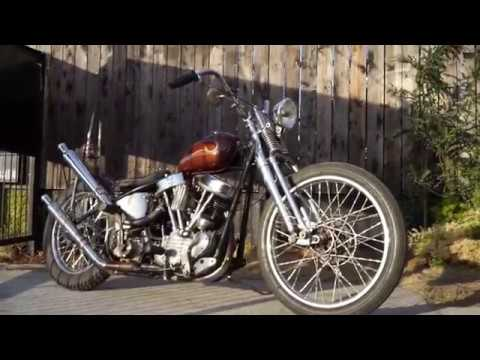 54`PANHEAD CHOPPER Fired up and running