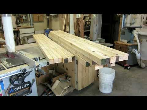 Building wood and steel DIY garden benches.