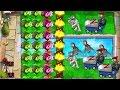 Plants Vs. Zombies Gameplay Gatling Pea vs Massive Attack Zomboni