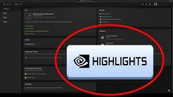 How to get Nvidia Highlights Fortnite !