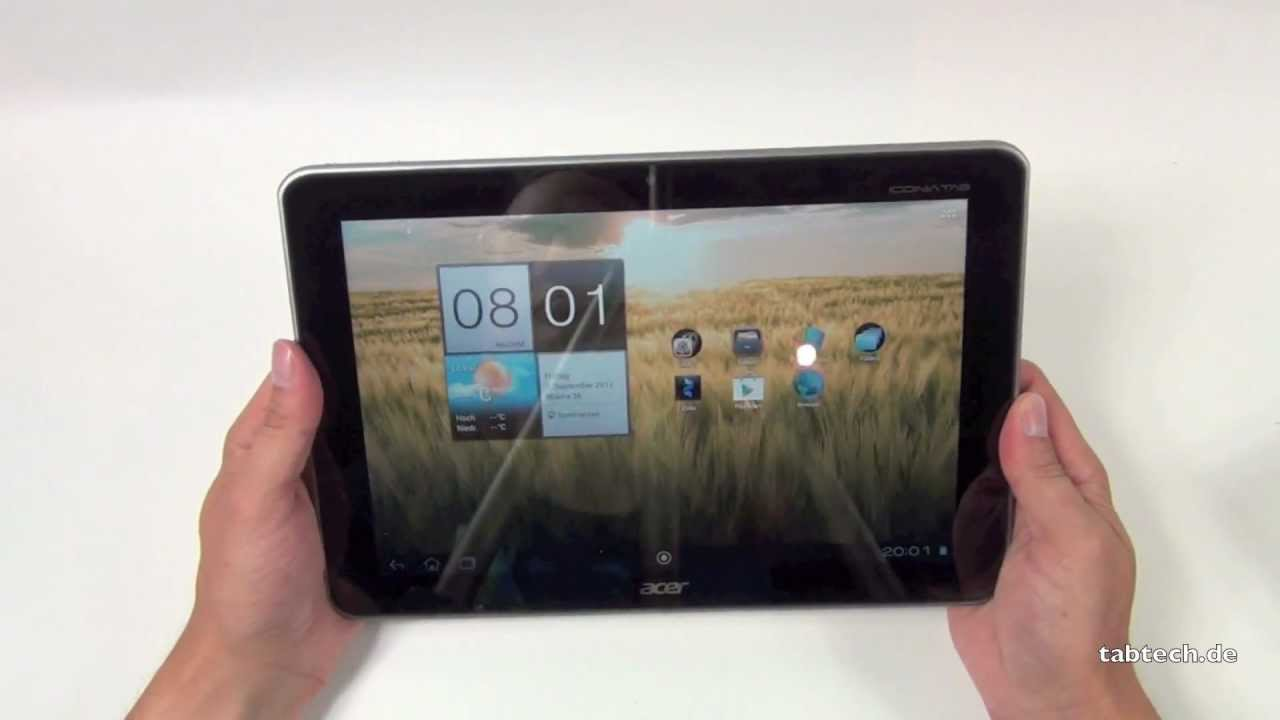 acer iconia tab a210 unboxing und kurztest deutsch youtube rh youtube com Acer Iconia 7 Inch Tablet acer iconia a210 tablet user manual