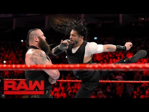 Roman Reigns attacks Braun Strowman: Raw,...