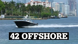 Yellowfin 42 Offshore running with Quad 300's
