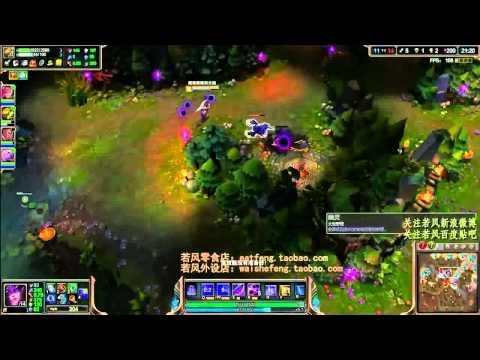 [League Of Legends 2014]【中路杀神】 霸主级辛德拉!逆风中的华丽表演 超清