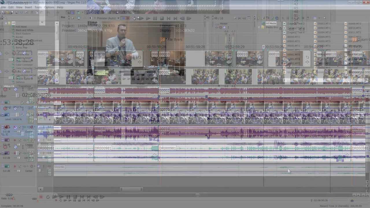 Sony Vegas pro 11 Tutorial editing audio with key - YouTube