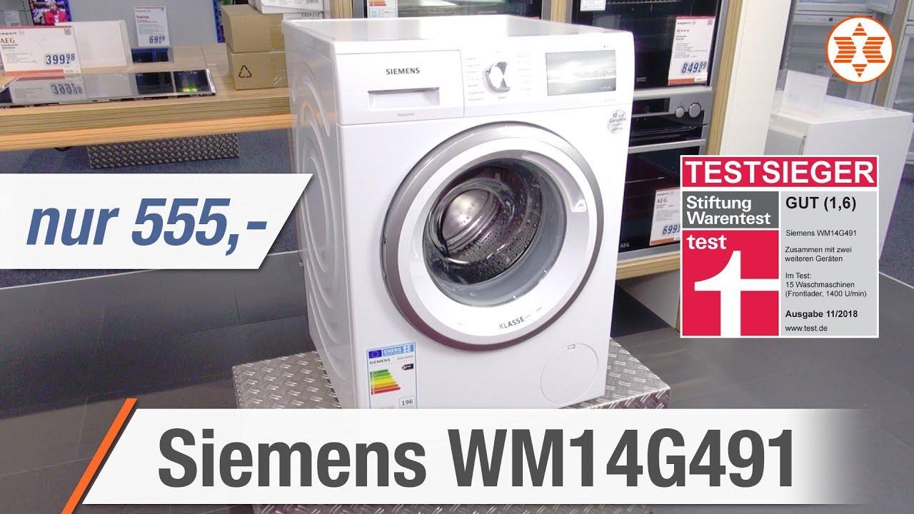 siemens waschmaschine wm14g491 die top features experten angebot der woche youtube