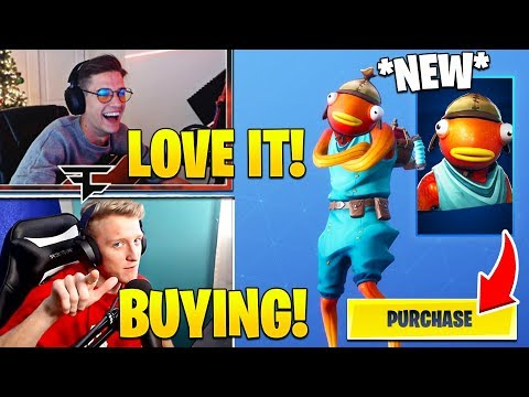 "TFUE & STREAMERS LAUGH and BUY *NEW* ""FISHSTICK"" SKIN! - Fortnite FUNNY Moments thumbnail"