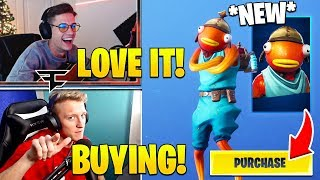 """TFUE & STREAMERS LAUGH and BUY *NEW* """"FISHSTICK"""" SKIN! - Fortnite FUNNY Moments"""
