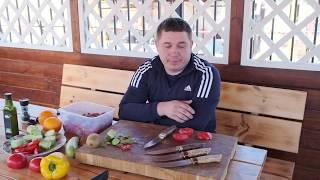 Новинки!!! Обзор ножей из порошковой стали М390. Рецепт шашлыка из телятины /Кузница Династия
