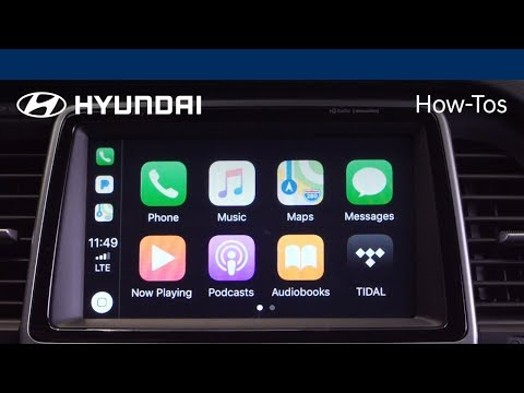 How to use the Apple CarPlay Feature 2018 Hyundai