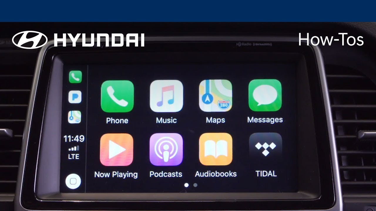 How to use the Apple CarPlay™ Feature | 2018 Hyundai