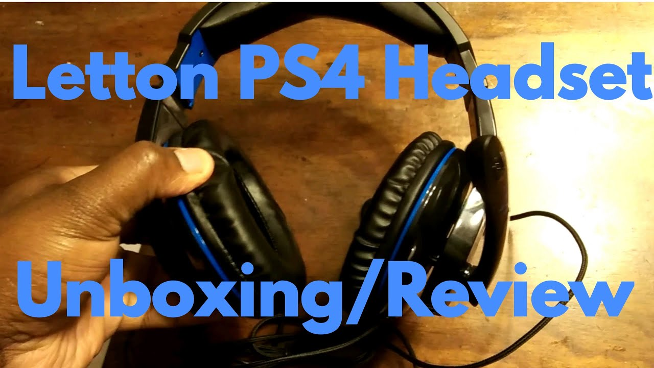 PS4 Letton Headset unboxing review...