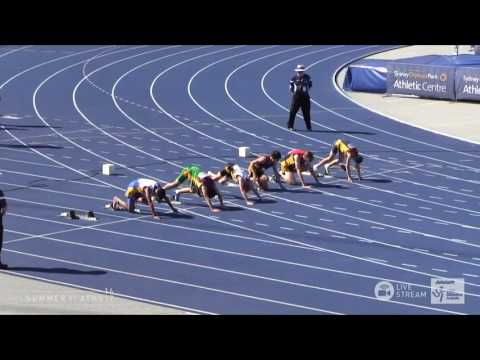 U13 Boys 100m - Final 1 - Asics Australian Little Athletics Championships