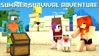 THE ADVENTURE BEGINS! | Minecraft Summer Survival w/ The Taco Crew!
