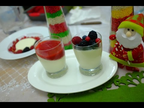 Vanilla Pana Cotta with Strawberry Sauce/An Italian delicacy -With Subtitles .Recipe no-10