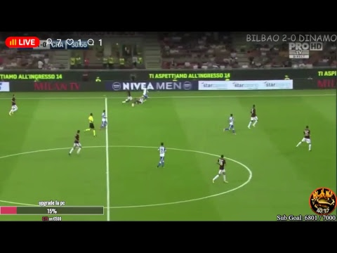 Live match : ac milan vs csu craiova ( eufa europa league )