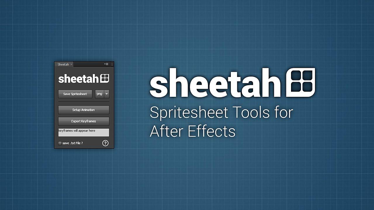 Sheetah - Spritesheet Tools - aescripts + aeplugins