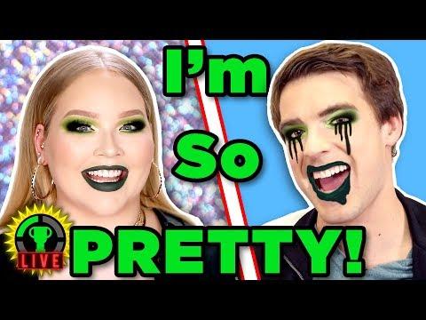 Make Me BEAUTIFUL!   We Tried Following A NikkieTutorials Makeup Tutorial