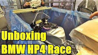 BMW HP4 RACE Unboxing. Достаем из коробки мотоцикл за 5,5 миллионов рублей