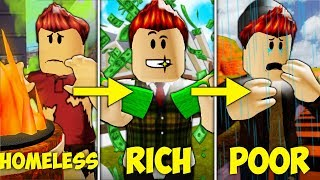 Homeless to Rich To Poor: A Sad Roblox Movie